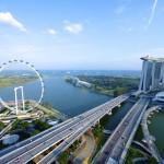 Вид на город Сингапур