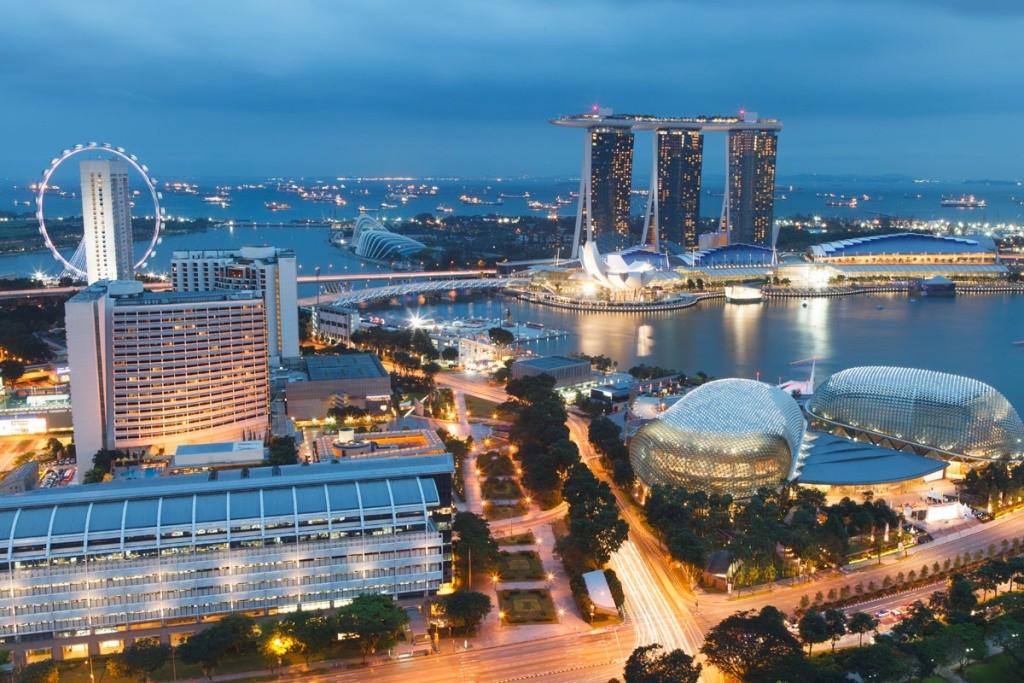 Вид на город Сингапур 2