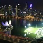 С колеса обозрения в Сингапуре