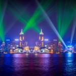 Световое представление в Гонконге